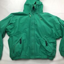 Vintage Women's Nautica Jacket Teal Green and Purple. Sz. Medium