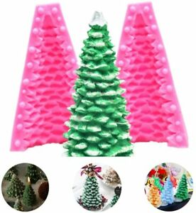 3D Christmas Tree Candle Mold Silicone Tree Mold for Fondant  Cake Decoration