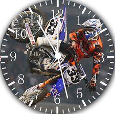 "Motor Cross wall Clock 10"" will be nice Gift and Room wall Decor E127"