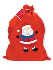 1 X Large Father Christmas Santa Sack Red Stocking Gift Presents Xmas