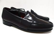 COLE HAAN City Burgundy Leather Penny Loafers Size 8 M