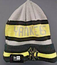 New Era MLB Yankees Beanie Knit Hat - Black/Neon Green