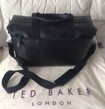 TED BAKER MEN'S LEATHER HOLDALL BAG - BLACK BNWT