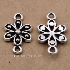 20pc Tibetan Silver Flower Connectors Charms Pendant Beads Jewellery  PL1099
