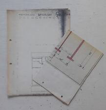 alte Baupläne handkoloriert Architekt Zeichnung Filterstadt OT Bernhausen