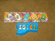 '03 Moose's Mighty Beanz - Series 2 - Complete set of 5 & cards Dinosaur team