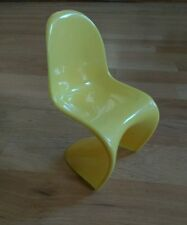 1/6 Scale Panton Designer modern Chair Miniature BJD doll chair.  Slight second?
