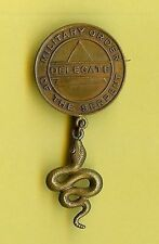 SPANISH AMERICAN WAR MILITARY ORDER OF THE SERPENT- DELEGATE MEDAL