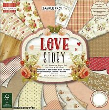 DOVECRAFT FIRST EDITION LOVE STORY 8 X 8 SAMPLE PACK 16 SHEETS - POSTAGE DEAL