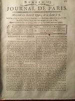 Noyon en 1790 Saint Domingue Haïti Malouet Saint Aubin Marine Royale