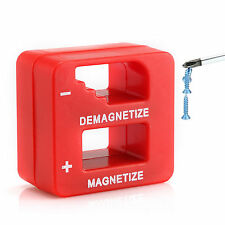 NEW Magnetizer/Demagnetizer For Screwdriver Tips Screw Bits Magnetic Pick Up Red