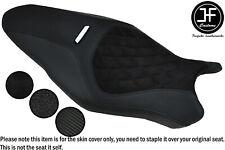 BLACK STITCH CARBON GRIP VINYL CUSTOM FOR DUCATI MONSTER 1200R 16-19 SEAT COVER
