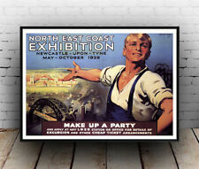 North East Exhibition : Vintage Advertising  Poster reproduction