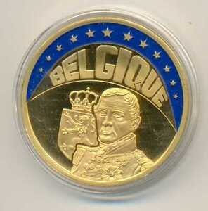 Belgium Medallic Issue Gold Plated ECU 1997 BU