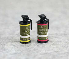 """2 Mini Prop Smoke Bomb Weapon For 1/6 Scale Male 12"""" Action Figure 1:6 Model Toy"""