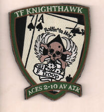 F troop TF Knighthawk 2-10 avn aviation atk hook and loop US Army Patch