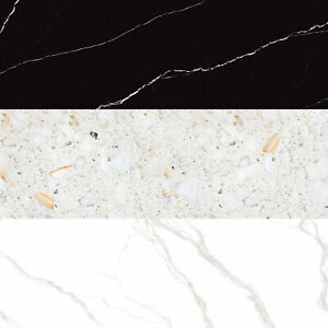 18mm Rectified Polished Porcelain Worktop Floor Tiles 80x240cm £356