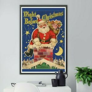 """Vintage Night Before Christmas Book POSTER! (up to 24"""" x 36"""") - 1947 - Santa"""