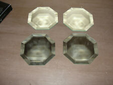 "Kemp & Beatly Lot Coasters Beveled Octagon 4"" Set of 4"
