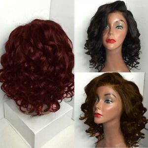 Bob Short Black /Brown Curly Wavy Women Synthetic Hair Full Wigs Cosplay Wig Hot