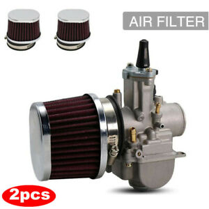 2x 38mm Air Filter POD Cleaner Fit For Bike Dirt ATV Quad Pit Motorcycle