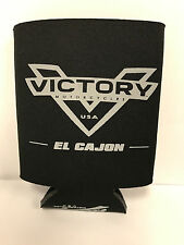 VICTORY MOTORCYCLES OF EL CAJON GRAY V LOGO KOOZIE BEVERAGE BEER SODA COOZIE USA