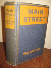 1st/1st Printing MAIN STREET Sinclair Lewis NOBEL PRIZE Rare CLASSIC Antique
