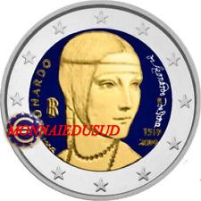 2 Euro Commémorative Italie 2019 en Couleur Type A - Léonard de Vinci