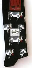 Vaca Lechera Diseño Negro agricultura Regalo calcetines Tamaño 6-11