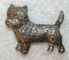 Cairn Terrier Dog Harris Fine Pewter Pin Jewelry Art Usa Made