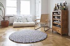 myfelt Greta 200 cm Design Teppich grau Wolle Filzkugelteppich Kinder-Teppich