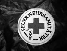 FEUERWEHRSANITÄTER Rundemblem Emblem Patch Aufnäher NEU