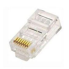 10 Pcs RJ45 8P8C Network Cable Modular Plug CAT5 CAT5E Connector End