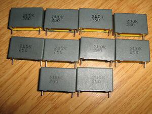 Capacitor 2uf  10%  250V DC -  polyester Metalized film  - 1200 PCS Suntan brand