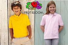 OCCASIONE FRUIT OF THE LOOM STOCK 25 PEZZI POLO piquet BAMBINO BAMBINA
