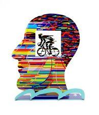 David Gerstein Head Cyclist Contemporary Bike Rider Metal Art Unique Art Gift
