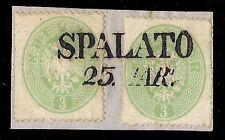AUSTRIA / OSTERREICH 1863 - 3 k. n. 23 x 2 SPALATO - SPLIT € 330+