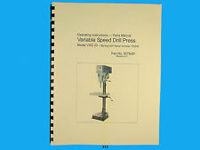 Wilton Model VSG-20 Variable Speed Drill Press Op Instruct & Parts Manual *312