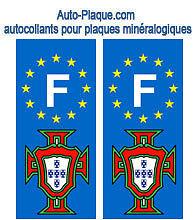 Autocollant PORTUGAL plaque immatriculation auto