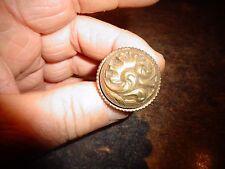 Ancienne Petite Poignée Bronze Bouton de Tiroir Coffre Coffret Porte Bureau