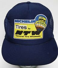Vtg 1990s MICHELIN TIRES NATIONAL WHOLESALE NTW Advertising SNAPBACK TRUCKER HAT