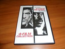 Lethal Weapon 1,2,3,4 Collection (DVD, 2007, 4-Disc Widescreen) Mel Gibson Used