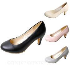 Synthetic Leather Upper Standard (B) Kitten Heels for Women