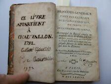 Livre,Principes généraux tirés des éléments de la langue grecque,1773,Mr Le Roi