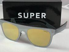 Retrosuperfuture Duo Lens Flat Top Gold Silver Sunglasses SUPER UT8 55mm NIB