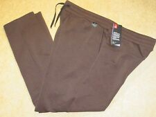 Men's 2XL Under Armour Fitted Brown Sweatpants 1317909-994 NWT $60