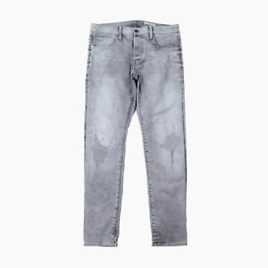 G Star Restored Denim 3301 Slim Fit Mens Wash Grey Denim Jeans W 33  L 32 G-Star