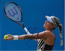 Autographed Kristina Mladenovic Tennis 8x10 Photo