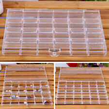 1* Plastic 24 Grid Jewelry Container Storage Box Bead Earring Organizer Display