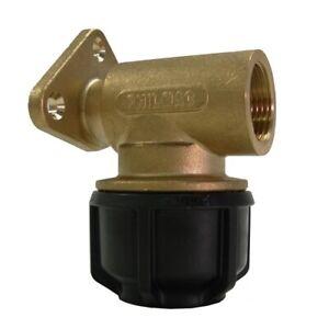 Philmac 20mm/ 1/2″ Brass Wall Plate Elbow 90226